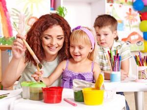 göra barnunderhållning