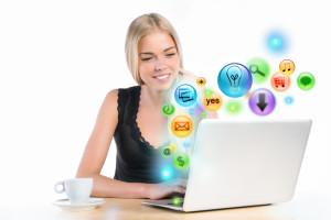 nytta av sociala medier, sociala medier snabbt